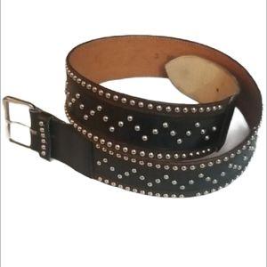 Vintage Kenzo Paris Studded Leather Waist Belt